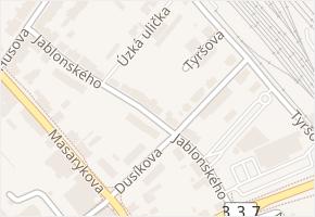 Jablonského v obci Čáslav - mapa ulice