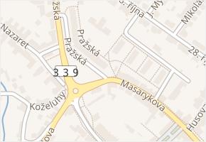 Pražská v obci Čáslav - mapa ulice