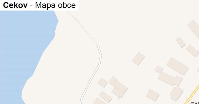 Cekov - mapa obce