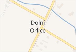 Dolní Orlice v obci Červená Voda - mapa části obce
