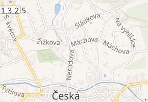 Vrchlického v obci Česká Kamenice - mapa ulice