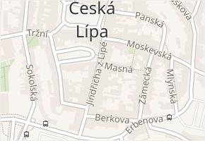 Česká Lípa v obci Česká Lípa - mapa části obce