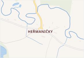 Heřmaničky v obci Česká Lípa - mapa části obce