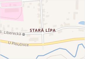 Stará Lípa v obci Česká Lípa - mapa části obce