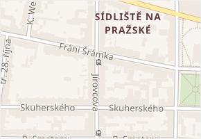 Jírovcova v obci České Budějovice - mapa ulice