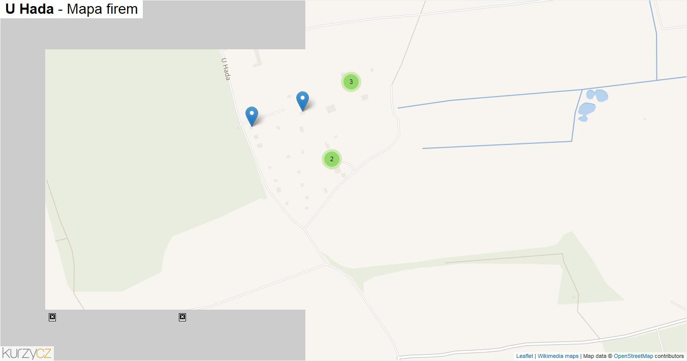U Hada - mapa firem