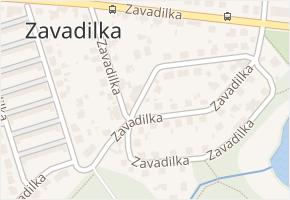 Zavadilka v obci České Budějovice - mapa ulice