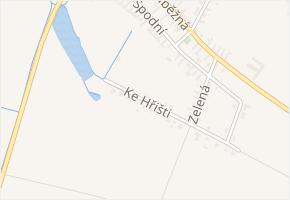 Ke Hřišti v obci Chleby - mapa ulice