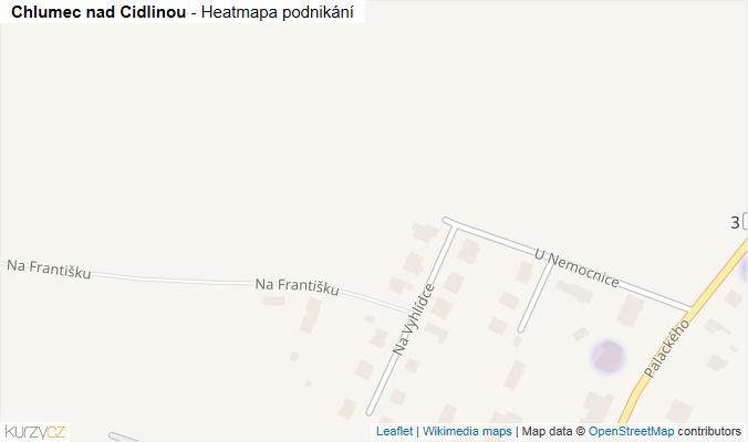 Mapa Chlumec nad Cidlinou - Firmy v obci.