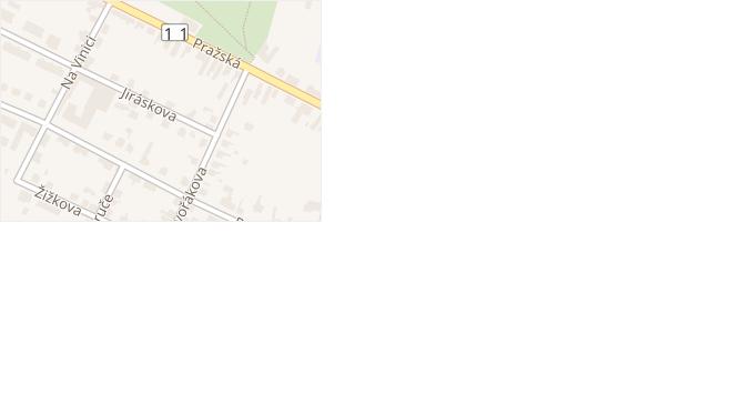 Jiráskova v obci Chlumec nad Cidlinou - mapa ulice