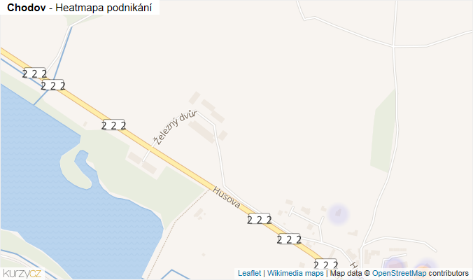 Mapa Chodov - Firmy v obci.
