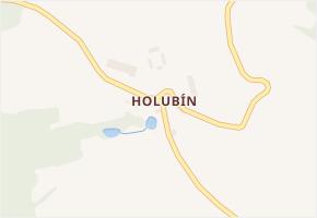 Holubín v obci Chodová Planá - mapa části obce