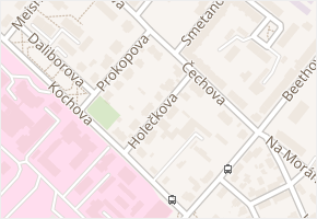 Holečkova v obci Chomutov - mapa ulice