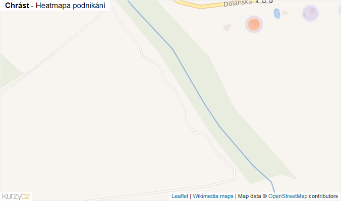 Mapa Chrást - Firmy v obci.