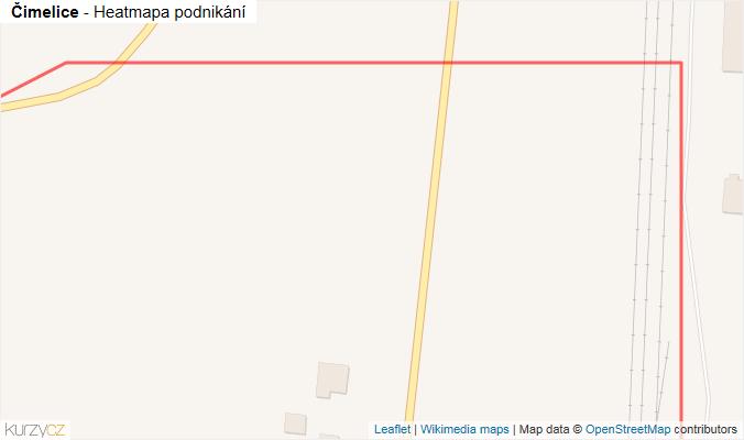 Mapa Čimelice - Firmy v obci.