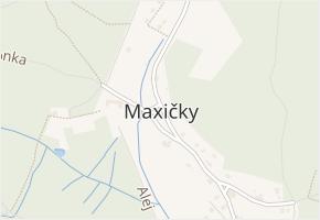 Děčín XVIII-Maxičky v obci Děčín - mapa části obce