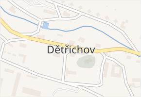Dětřichov v obci Dětřichov - mapa části obce