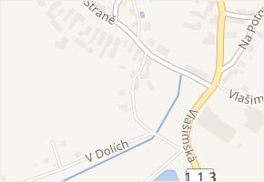 Na Malé Straně v obci Divišov - mapa ulice