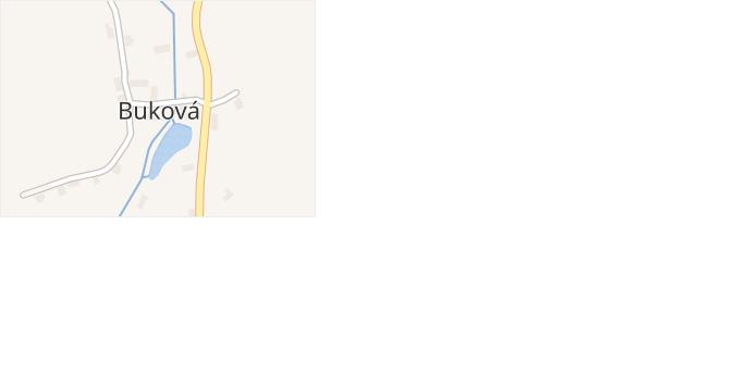 Buková v obci Dlažov - mapa části obce