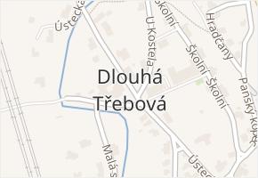 Dlouhá Třebová v obci Dlouhá Třebová - mapa části obce