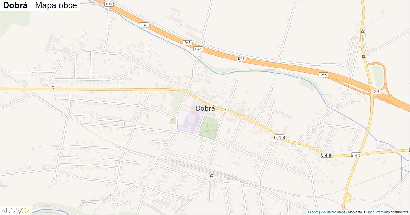 Dobrá - mapa obce