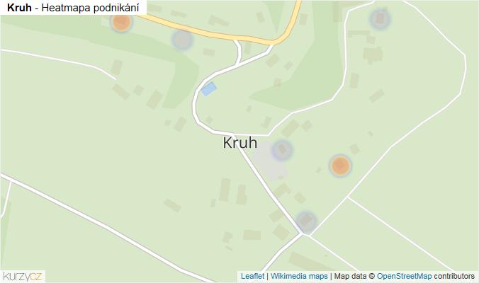 Mapa Kruh - Firmy v části obce.