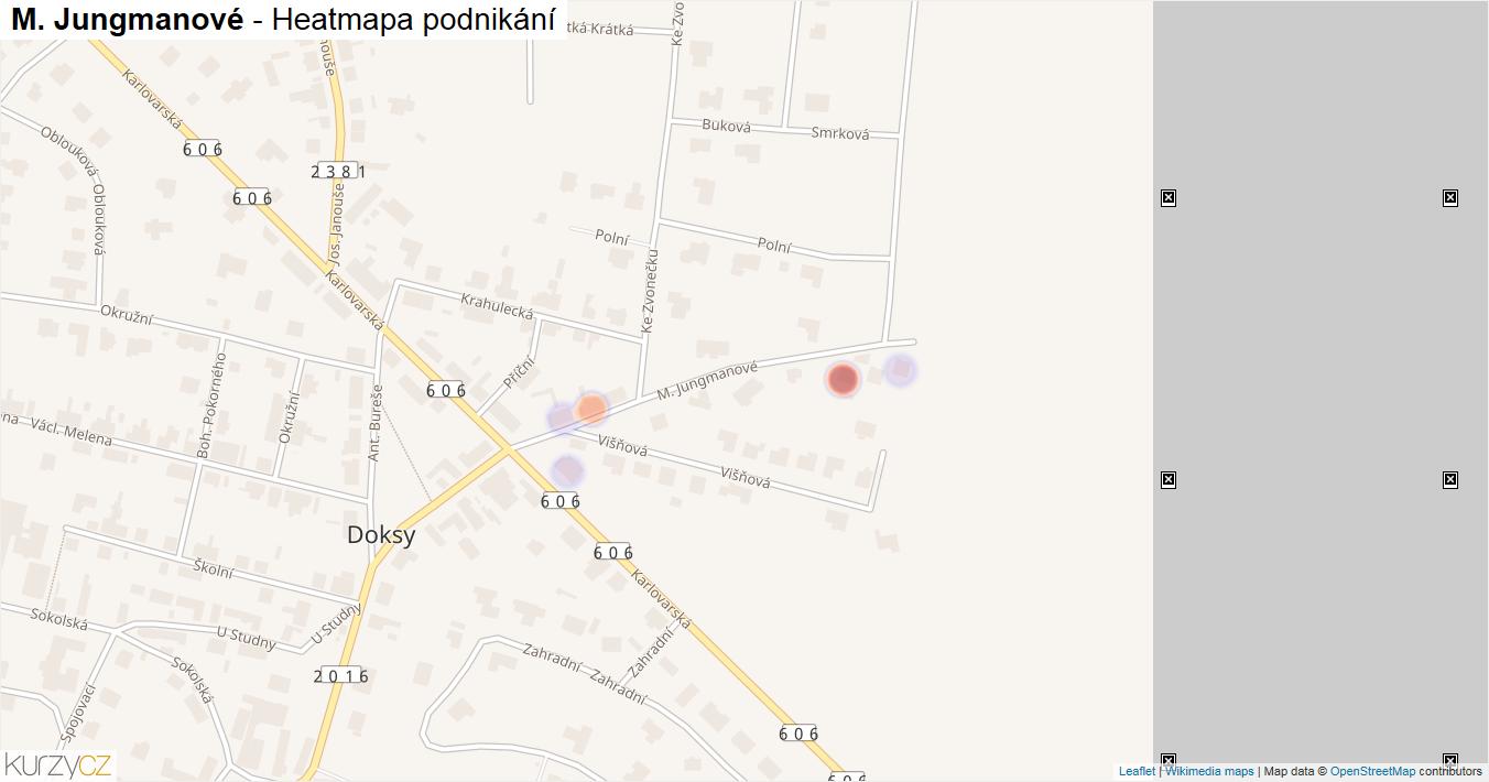 M. Jungmanové - mapa podnikání