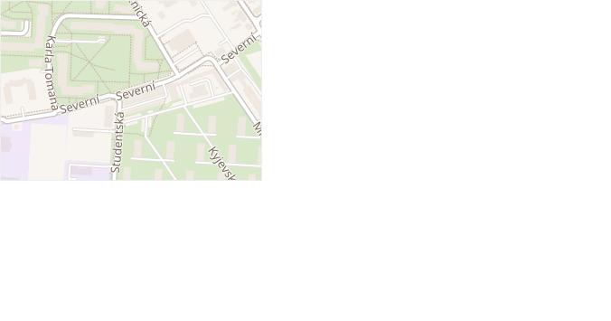 Severní v obci Doksy - mapa ulice