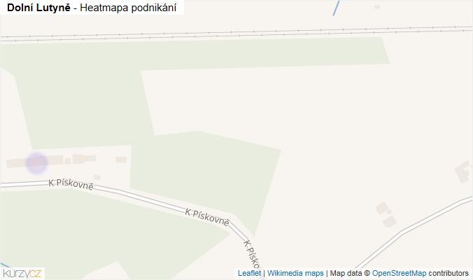 Mapa Dolní Lutyně - Firmy v obci.