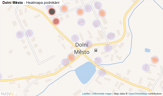 Mapa Dolní Město - Firmy v části obce.