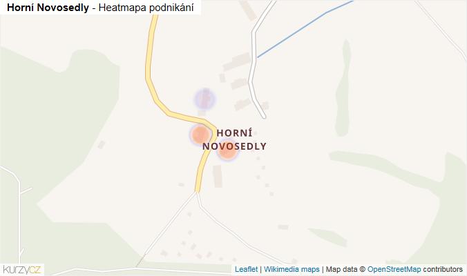 Mapa Horní Novosedly - Firmy v části obce.