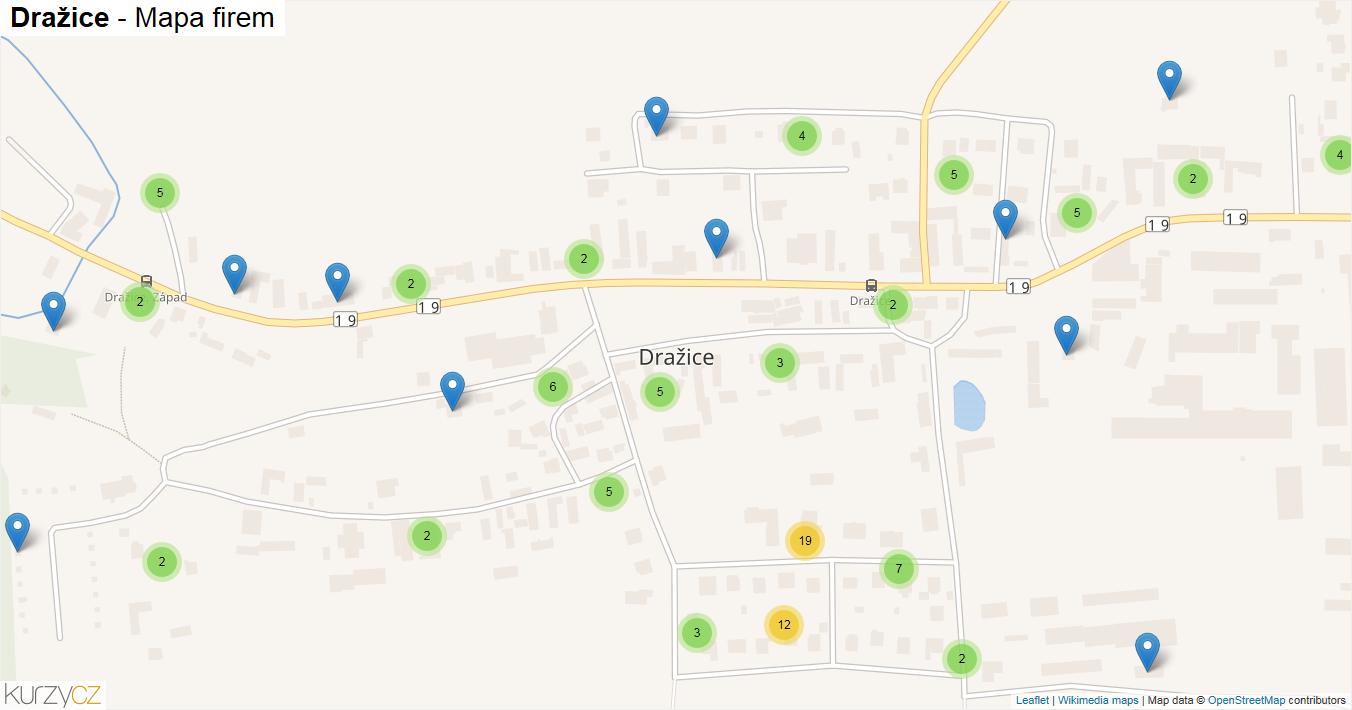 Dražice - mapa firem