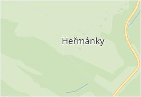 Heřmánky v obci Dubá - mapa části obce