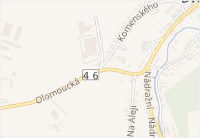 Olomoucká v obci Dvorce - mapa ulice