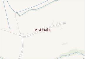 Ptáčník v obci Fryčovice - mapa části obce