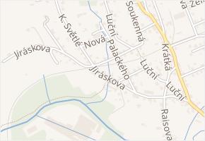Jiráskova v obci Frýdlant - mapa ulice