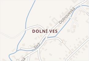 Dolní Ves v obci Fryšták - mapa části obce