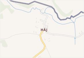 Háj v obci Habartice - mapa části obce