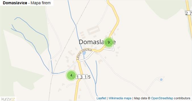 Mapa Domaslavice - Firmy v části obce.