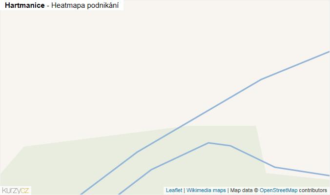Mapa Hartmanice - Firmy v obci.