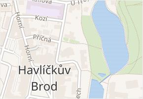 Havlíčkův Brod v obci Havlíčkův Brod - mapa části obce