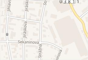 Strážná v obci Havlíčkův Brod - mapa ulice
