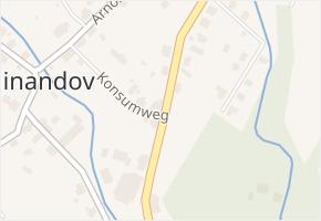 Ferdinandov v obci Hejnice - mapa části obce