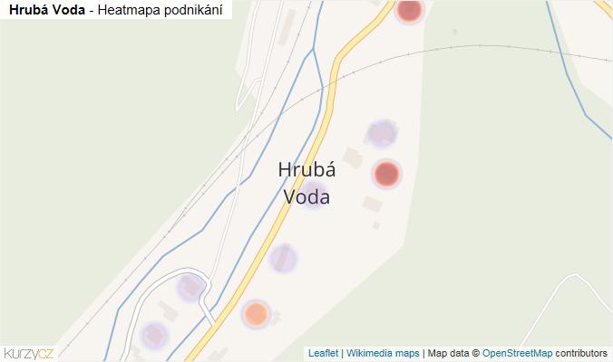 Mapa Hrubá Voda - Firmy v části obce.