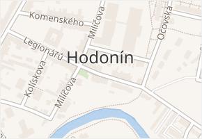 Hodonín v obci Hodonín - mapa části obce