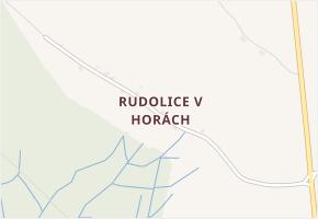 Rudolice v Horách v obci Hora Svaté Kateřiny - mapa části obce