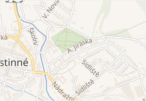 A. Jiráska v obci Hostinné - mapa ulice