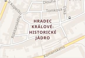 Hradec Králové v obci Hradec Králové - mapa části obce