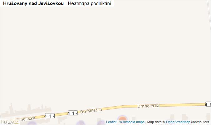 Mapa Hrušovany nad Jevišovkou - Firmy v obci.