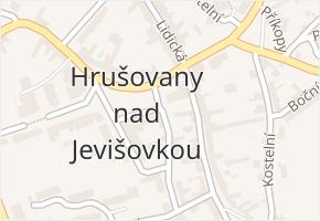 Hrušovany nad Jevišovkou v obci Hrušovany nad Jevišovkou - mapa části obce